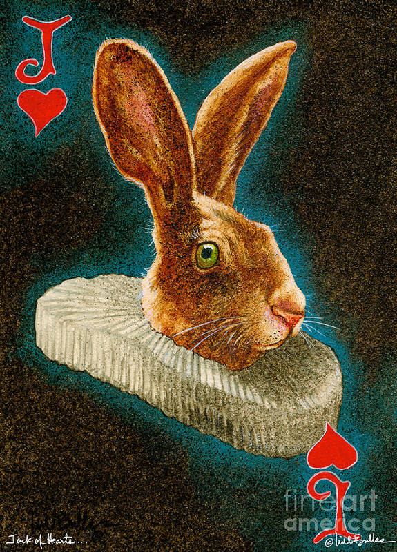 Will Bullas Poster featuring the painting Jack Of Hearts... by Will Bullas