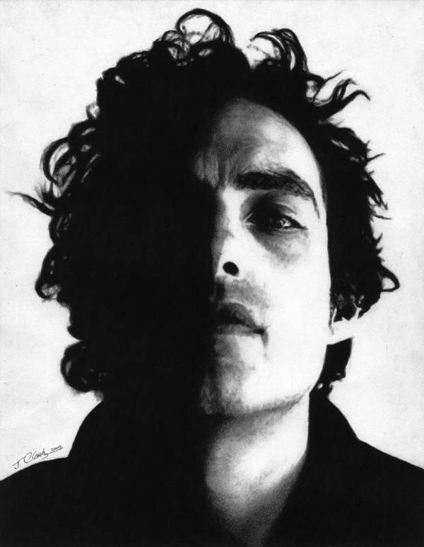 Jakob Dylan Poster featuring the drawing Jakob Dylan by Justin Clark