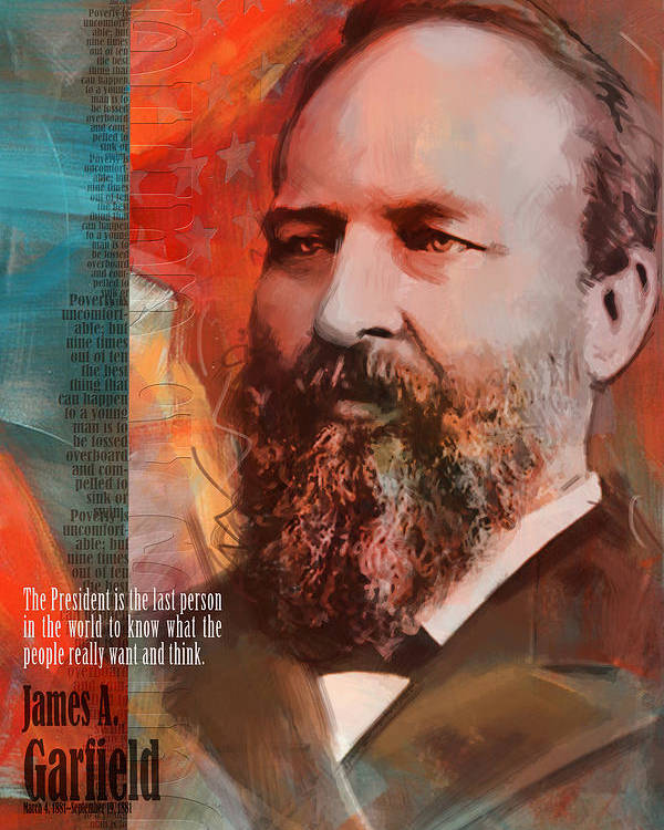 James A Garfield Poster featuring the painting James A. Garfield by Corporate Art Task Force