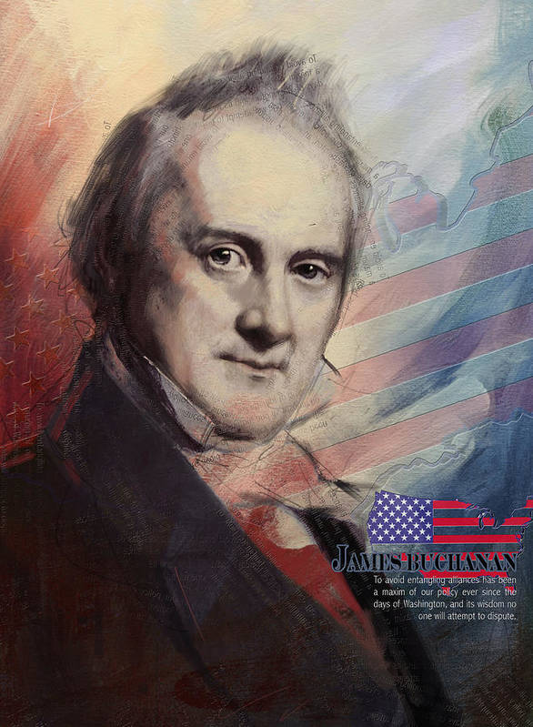 James Buchanan Poster featuring the painting James Buchanan by Corporate Art Task Force