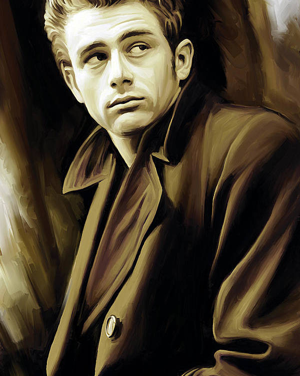 James Dean Paintings Poster featuring the painting James Dean Artwork by Sheraz A