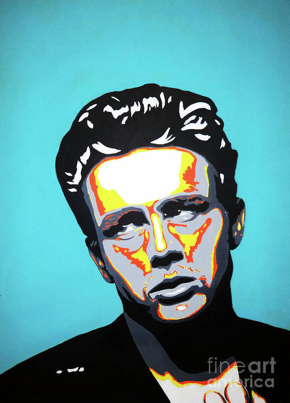 James Poster featuring the painting James Dean by Grant Swinney