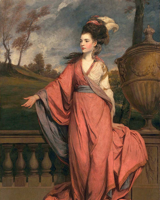 Female Poster featuring the painting Jane Fleming, Later Countess by Sir Joshua Reynolds