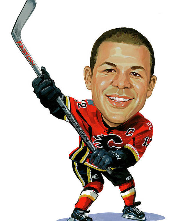 Jarome Iginla Poster featuring the painting Jarome Iginla by Art