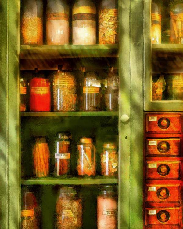 Savad Poster featuring the digital art Jars - Ingredients II by Mike Savad