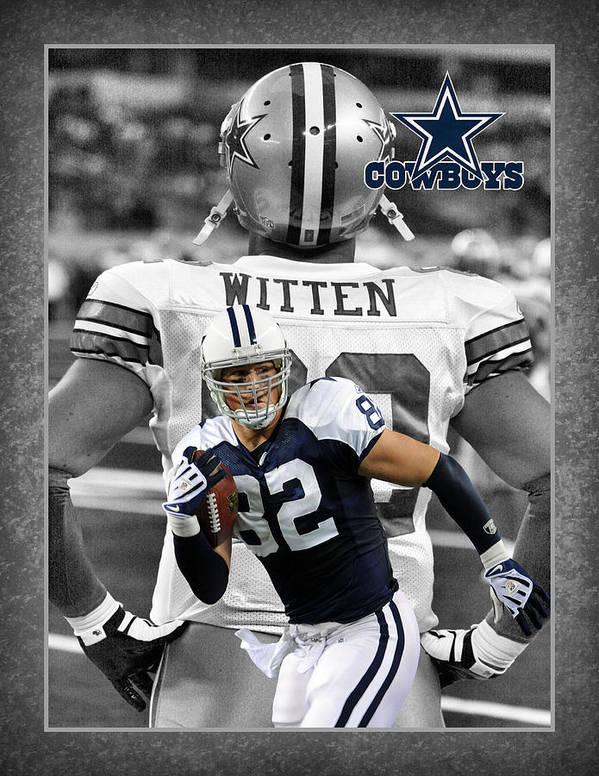 Jason Witten Poster featuring the photograph Jason Witten Cowboys by Joe Hamilton