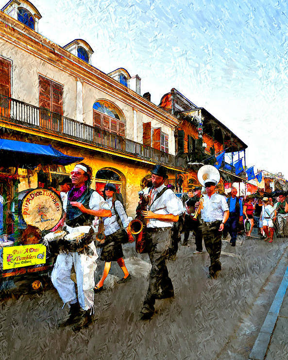 French Quarter Poster featuring the photograph Jazz Funeral II by Steve Harrington