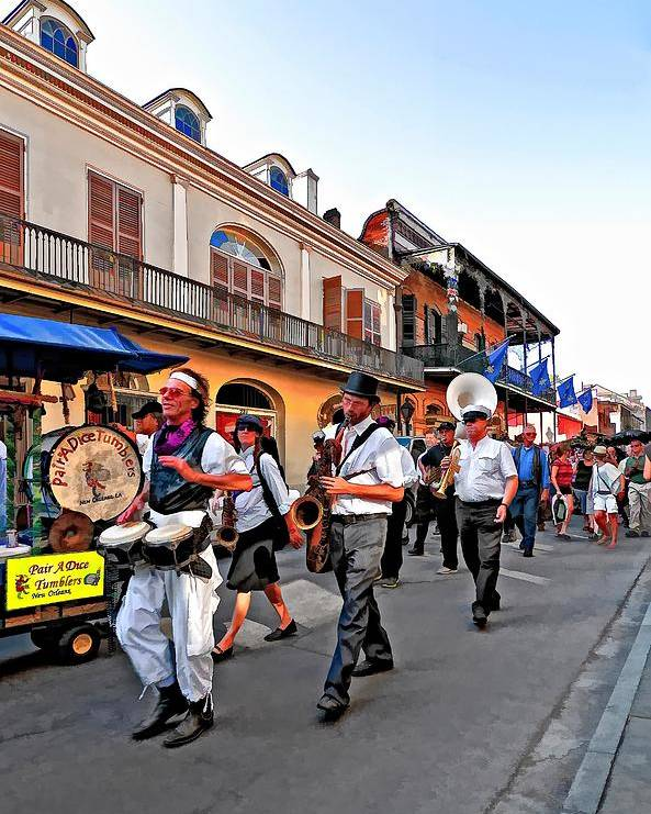 French Quarter Poster featuring the photograph Jazz Funeral by Steve Harrington