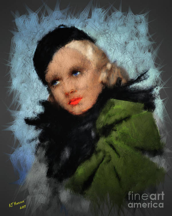 Arne J Hansen Poster featuring the photograph Jean Harlow by Arne Hansen
