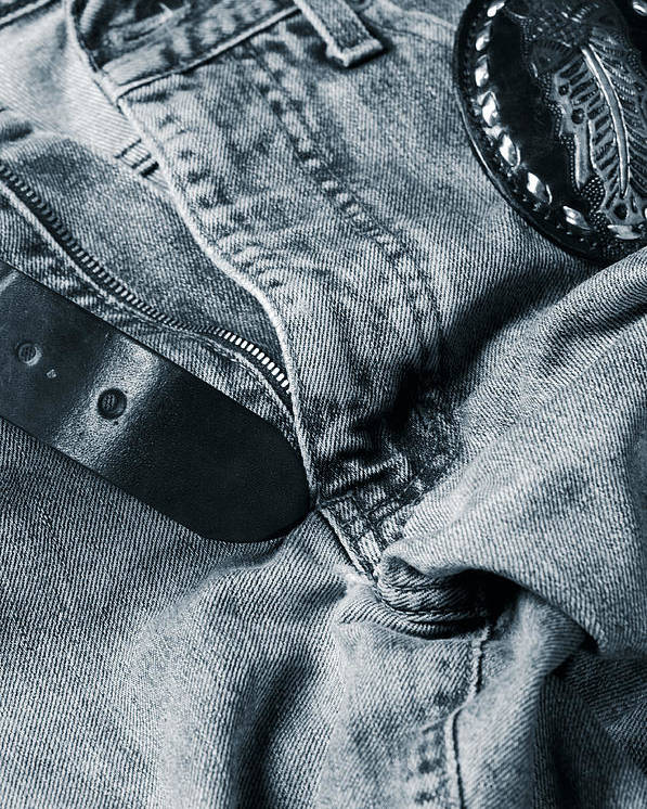Jeans Poster featuring the photograph Jeans And Denim In Blue by Christian Lagereek