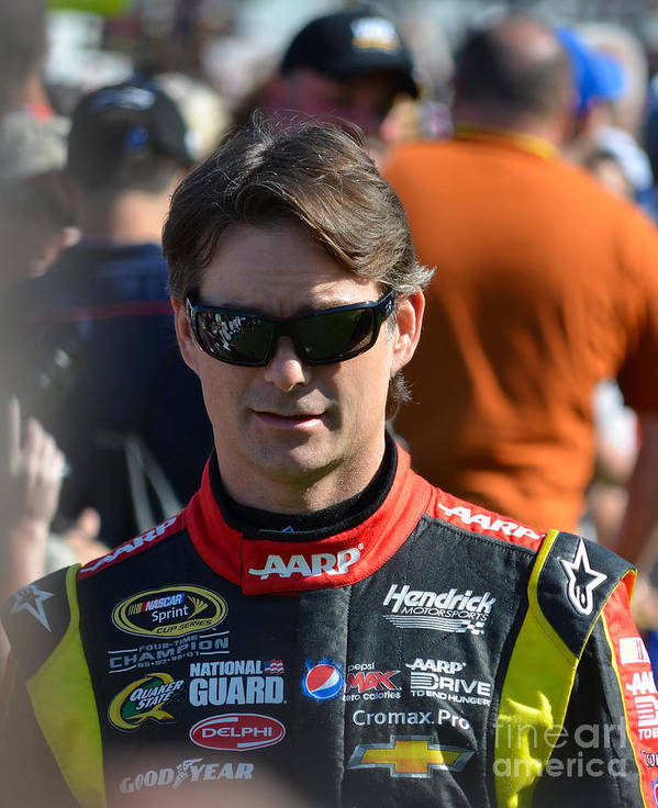 Nascar Driver Poster featuring the photograph Jeff Gordon by Mark Spearman
