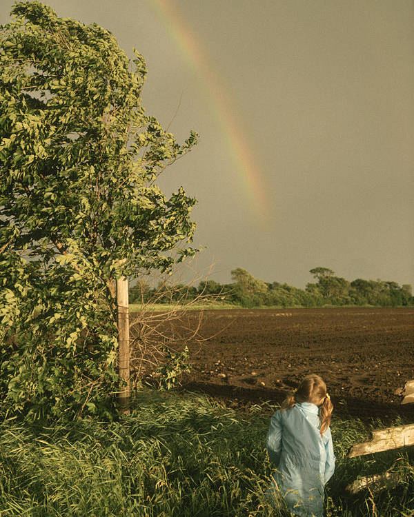 Rainbow Poster featuring the photograph Jennifer's Rainbow by Bruce Thompson