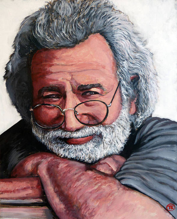 Jerry Poster featuring the painting Jerry Garcia by Tom Roderick