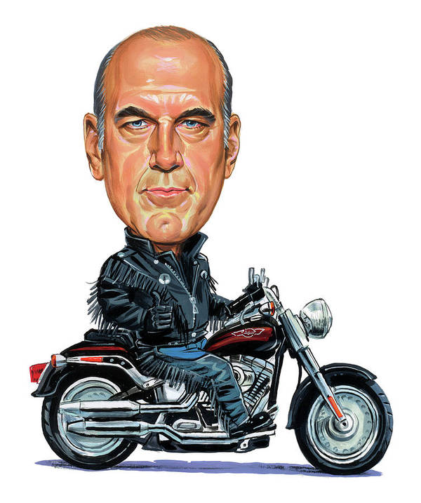Jesse Ventura Poster featuring the painting Jesse Ventura by Art
