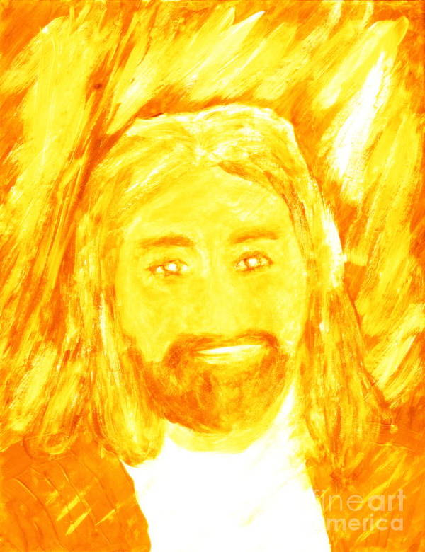 Jesus Christ Poster featuring the painting Jesus Is The Christ The Holy Messiah 1 by Richard W Linford