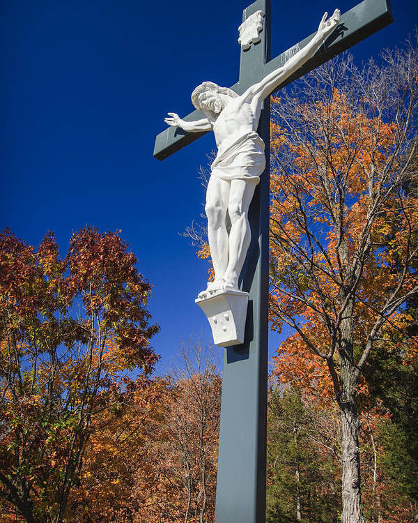 3scape Photos Poster featuring the photograph Jesus On The Cross by Adam Romanowicz