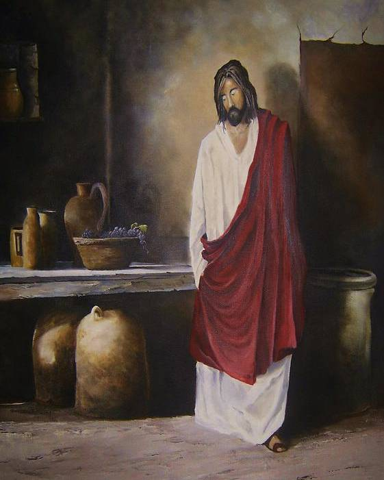 Jesus Poster featuring the painting Jesus- The First Miracle- by James Neeley