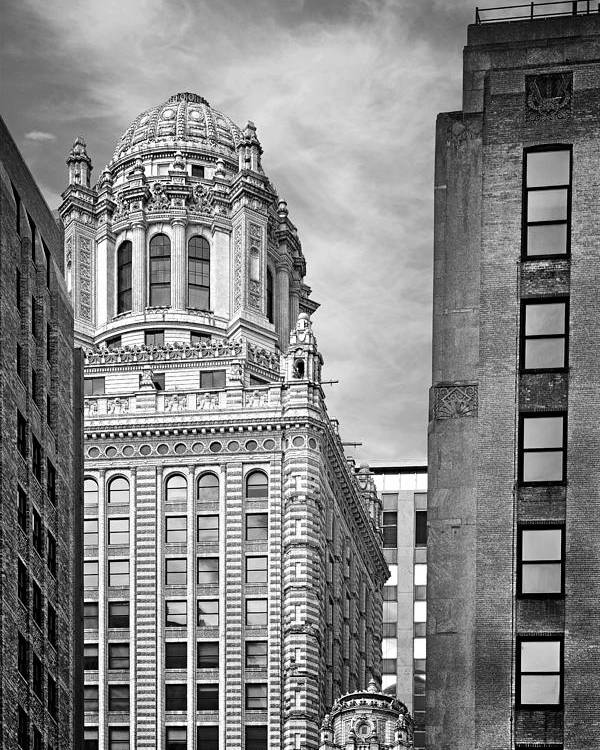 Jewelers Poster featuring the photograph Jewelers' Building - 35 East Wacker Chicago by Christine Till