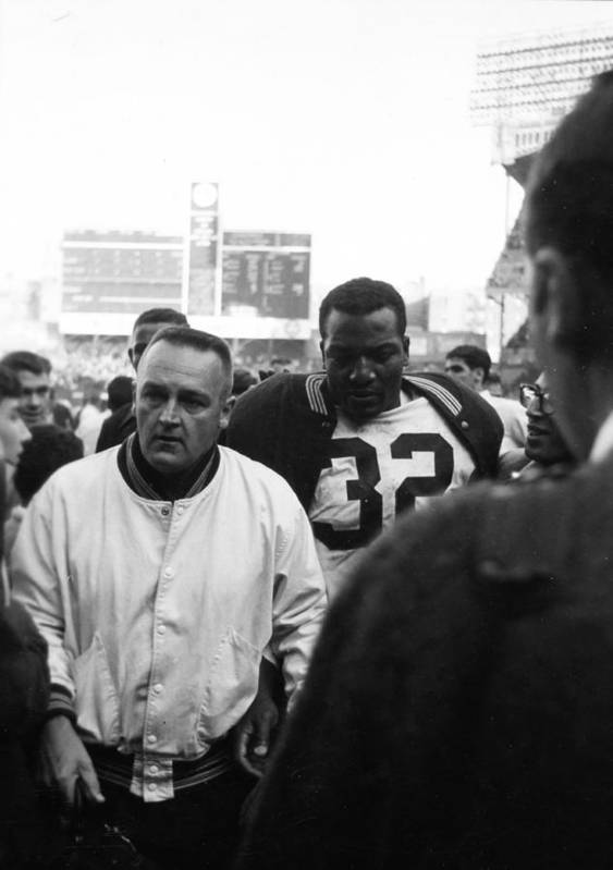 Marvin Newman Poster featuring the photograph Jim Brown The Great Leaving The Field by Retro Images Archive