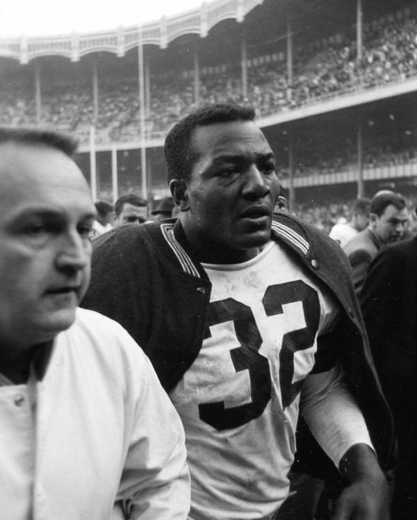 Marvin Newman Poster featuring the photograph Jim Brown Post Game by Retro Images Archive
