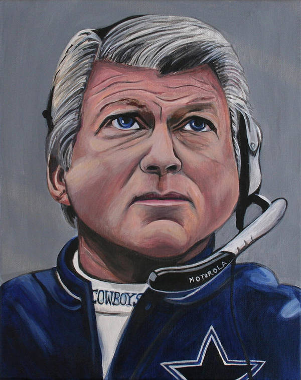 Jimmy Johnson Poster featuring the painting Jimmy Johnson by Kate Fortin