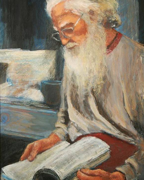 Poster featuring the painting Joe by Helen Hickey