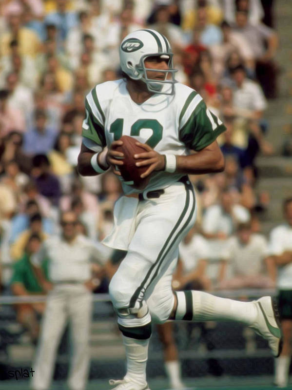 Nfl Poster featuring the painting Joe Namath by Paint Splat
