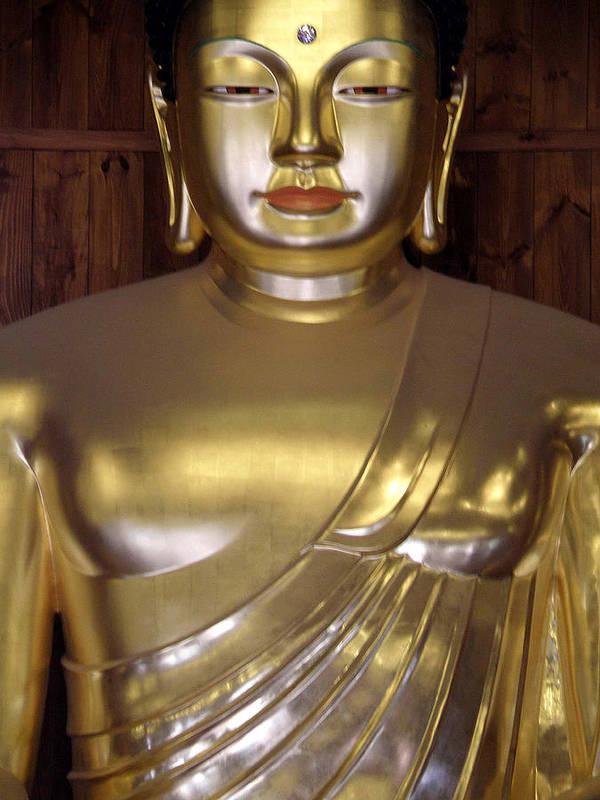 Buddha Poster featuring the photograph Jogyesa Buddha by Jean Hall