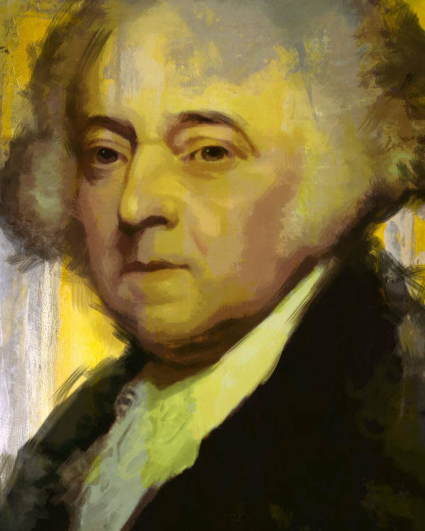 John Adams Poster featuring the painting John Adams by Corporate Art Task Force
