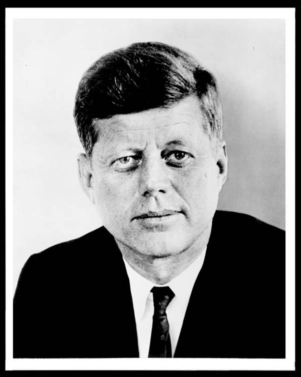 President Poster featuring the photograph John F. Kennedy by Benjamin Yeager