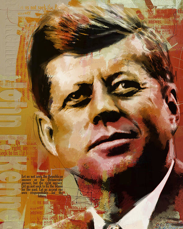 Jfk Poster featuring the painting John F. Kennedy by Corporate Art Task Force