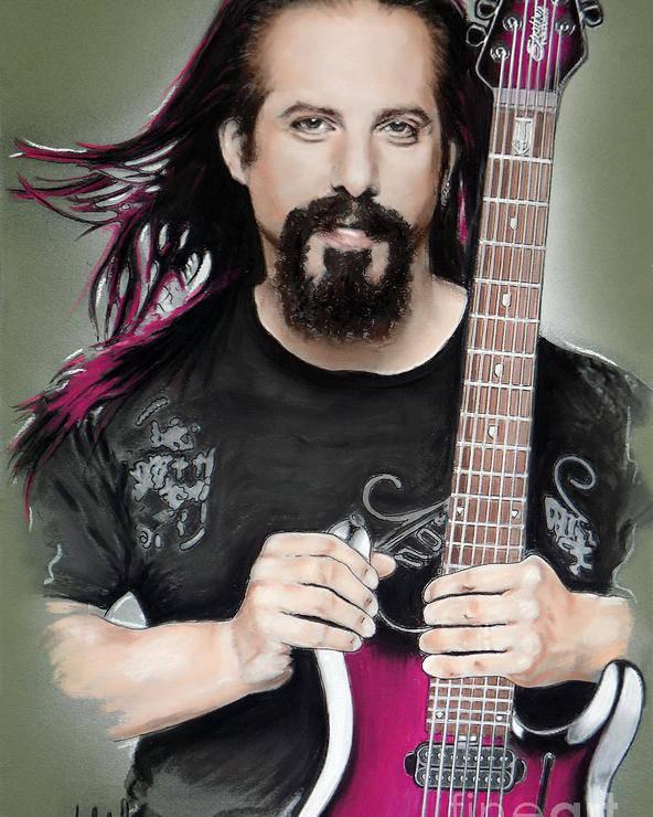 John Petrucci Poster featuring the mixed media John Petrucci by Melanie D