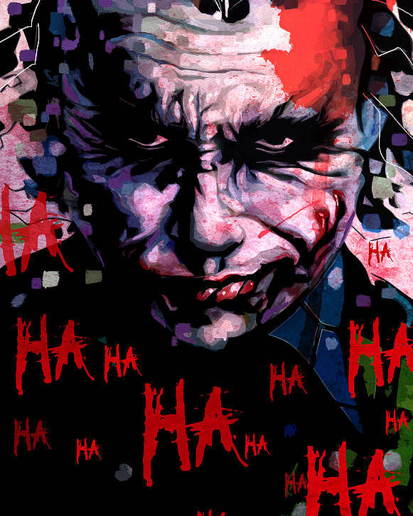 Digital Poster featuring the painting Joker by Jeremy Scott