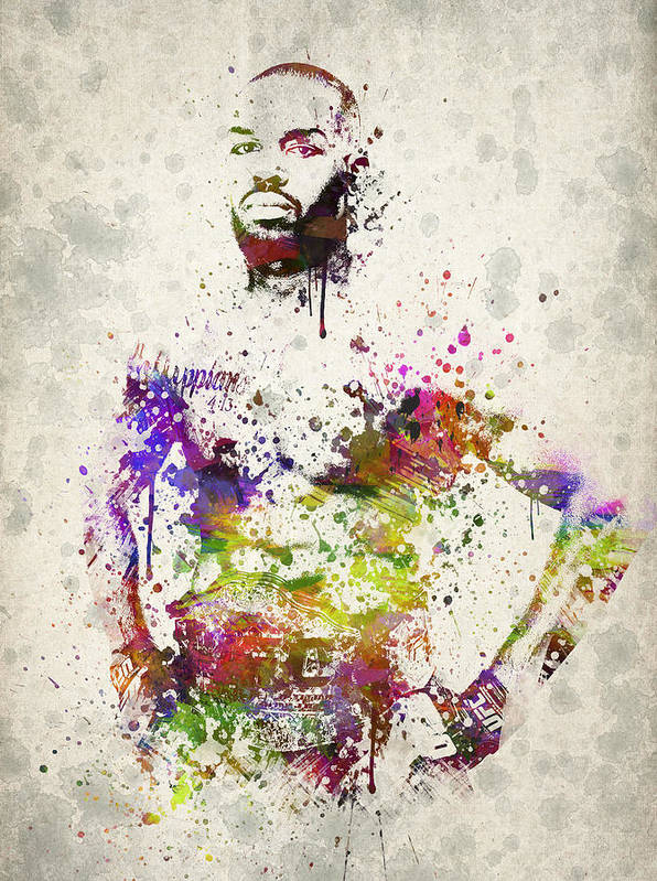 Jon Jones Poster featuring the drawing Jon Jones by Aged Pixel