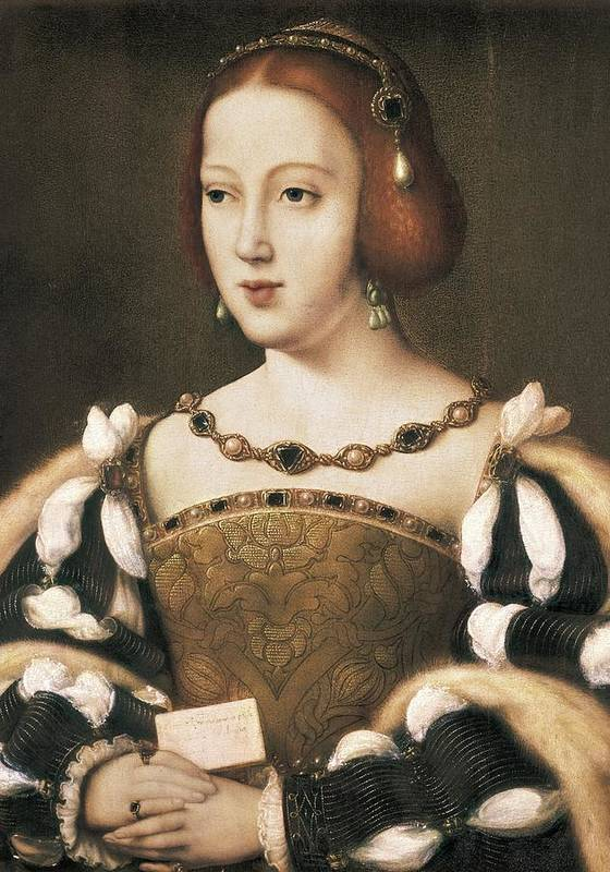 Vertical Poster featuring the photograph Joos Van Cleve 1485-1541. Eleanor by Everett