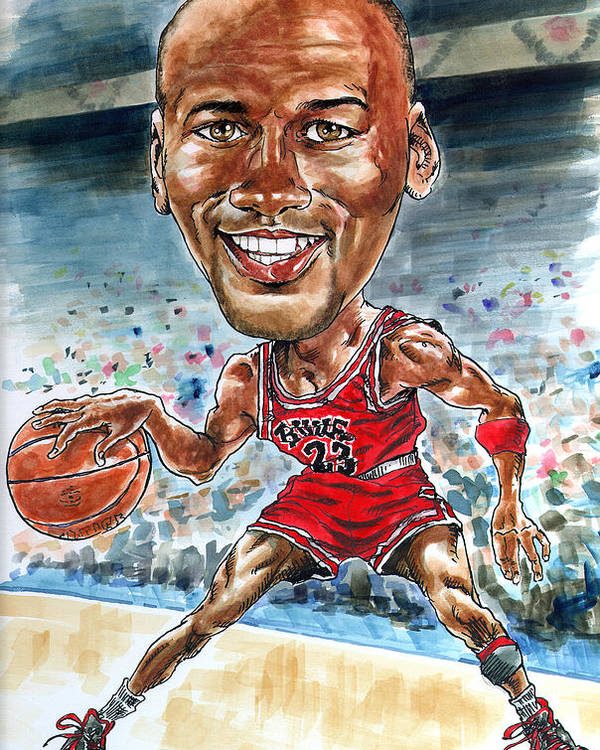 Jordan Poster featuring the painting Jordan by Tom Hedderich