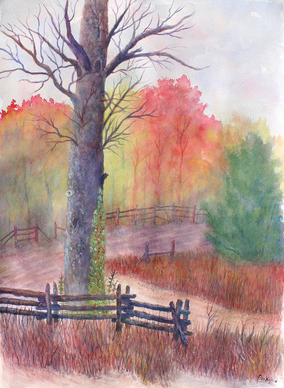 Fall Poster featuring the painting Joy of Fall by Ben Kiger