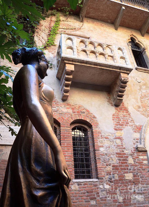 Juliet Poster featuring the photograph Juliet's Balcony In Verona Italy by Matteo Colombo