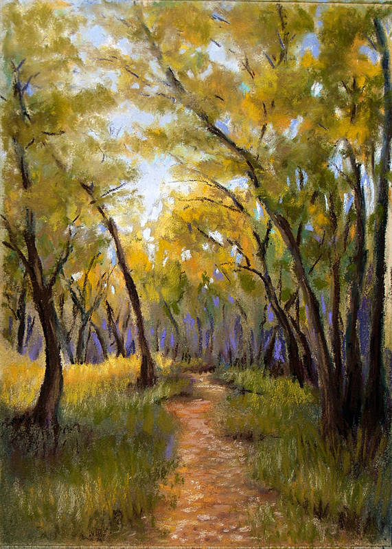 Landscape Poster featuring the pastel Just Before Autumn by Susan Jenkins