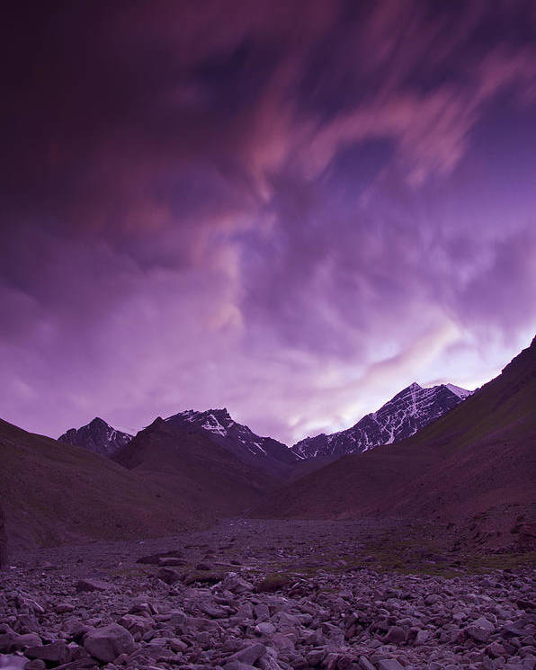 Mountains Poster featuring the photograph Kangri Twilight by Aaron Bedell