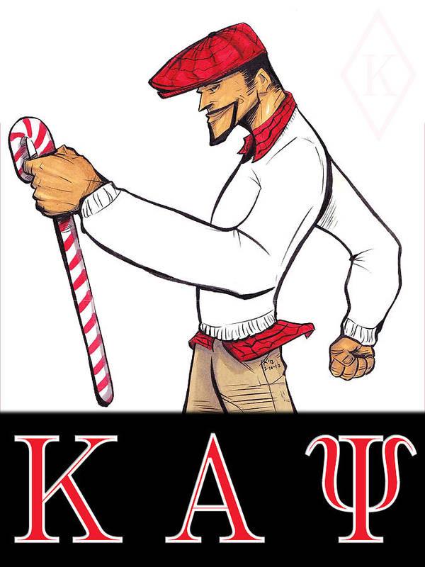 Kappa Poster featuring the mixed media Kappa Alpha Psi by Tu-Kwon Thomas