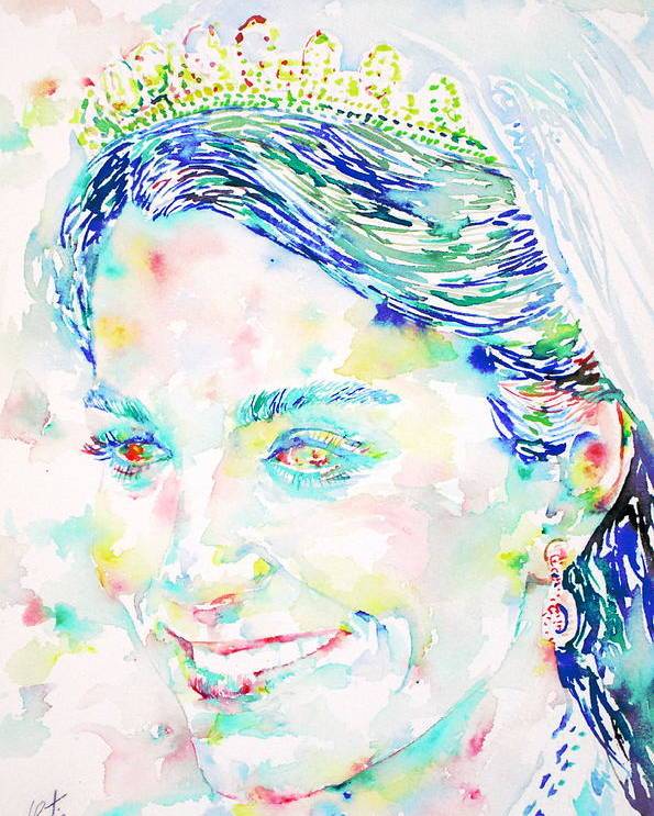 Kate Poster featuring the painting Kate Middleton Portrait.2 by Fabrizio Cassetta
