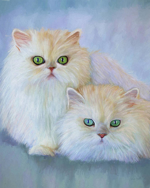 Cat Poster featuring the painting Katrina And Bjorn by David Wagner