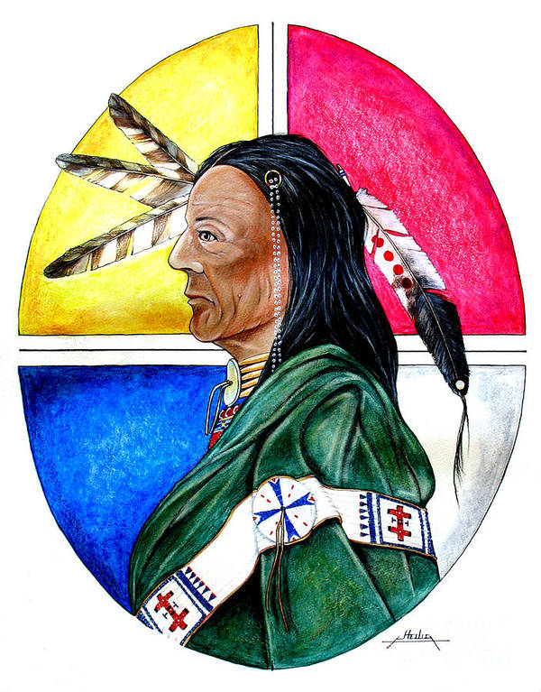 Native American Poster featuring the painting Keeper Of The Wind by Curtis Heilig