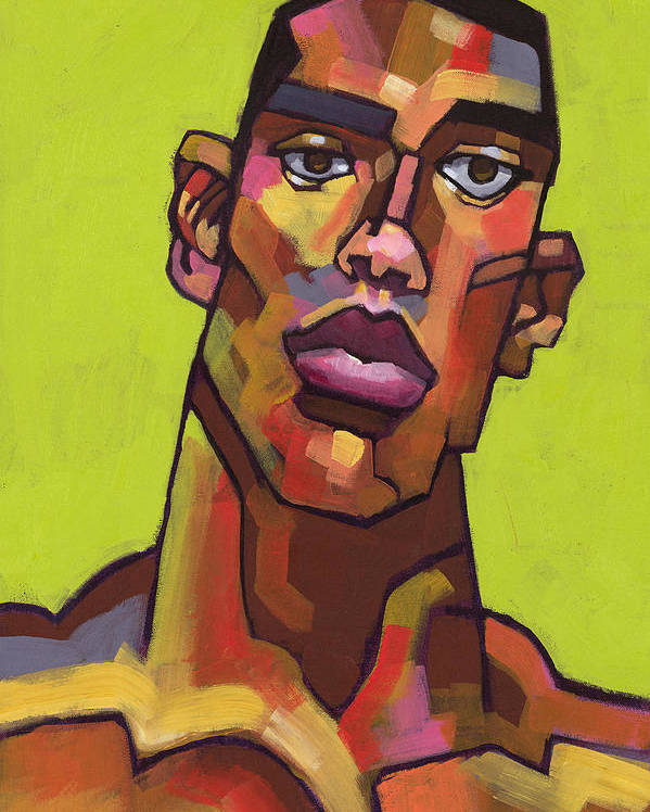 Portrait Poster featuring the painting Killer Joe by Douglas Simonson