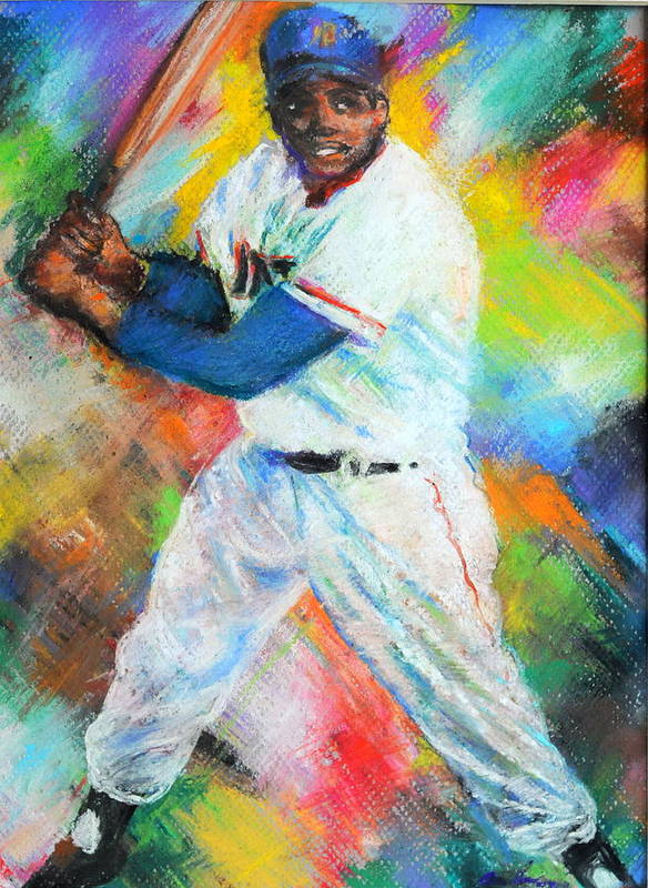 Baseball Poster featuring the pastel King Of Swing by Charles Ambrosio