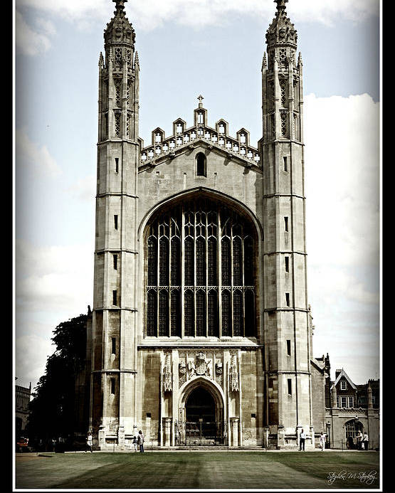 King's College Poster featuring the photograph King's College Chapel - Poster by Stephen Stookey