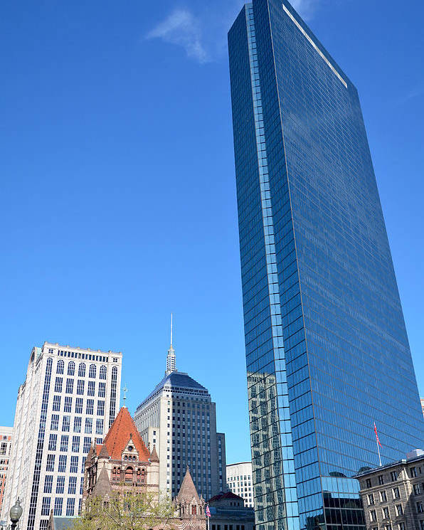 Boston Poster featuring the photograph Kissing The Boston Sky by Amanda Vouglas