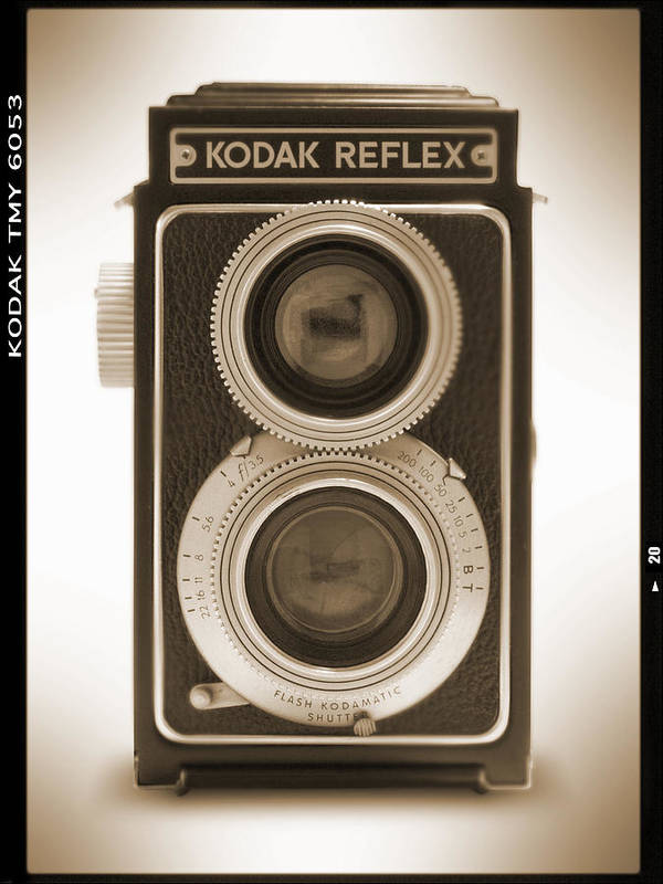 Classic Reflex Camera Poster featuring the photograph Kodak Reflex Camera by Mike McGlothlen