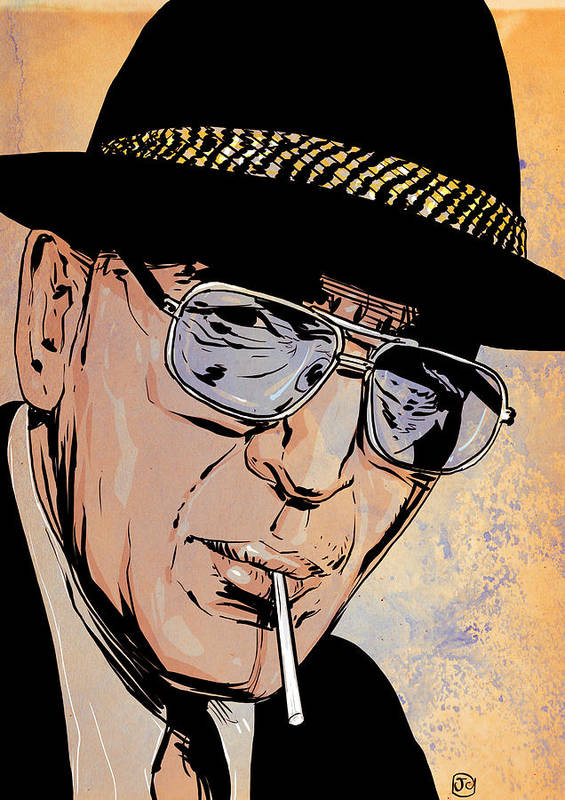 Telly Savalas Poster featuring the drawing Kojak by Giuseppe Cristiano